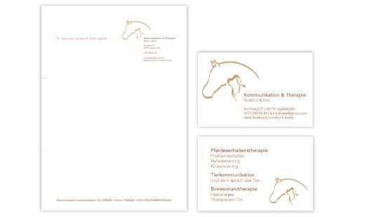 Geschäftsausstattung Kommunikation und Therapie von Kristina Kriete