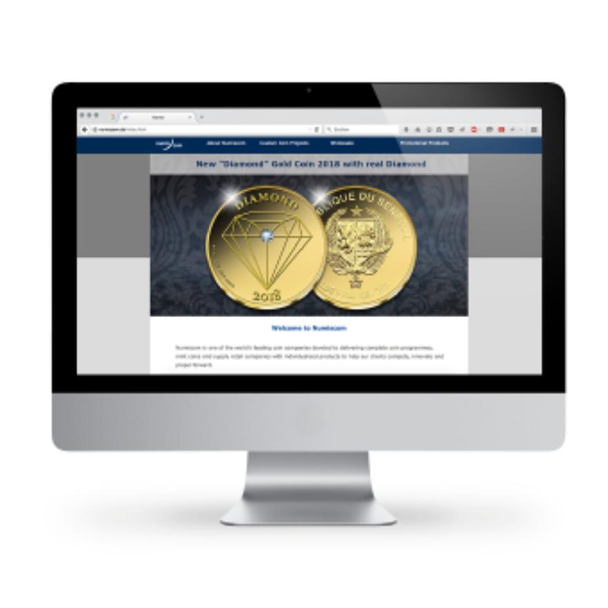 Webdesign von Numiscom
